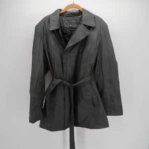 Giacca Black Double Breasted Trench Coat Size M